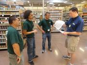 From left: Employees Luis Zelaya, Kevin Mims and Danko Drasko; and assistant regional manager Greg Rockwell