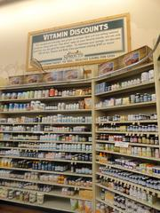 Sprouts Farmers Market in Copperfield has a large vitamin section.