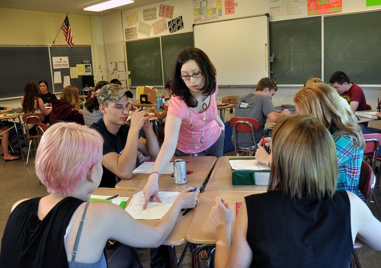 Inside a 10th grade geometry class at Burnt Hills-Ballston Lake High School. Among 455 upstate districts, the southern Saratoga County schools ranked No. 21. In The Business Review's study of schools in the greater Capital Region, the Burnt Hills-Ballston Lake district ranked No. 5.