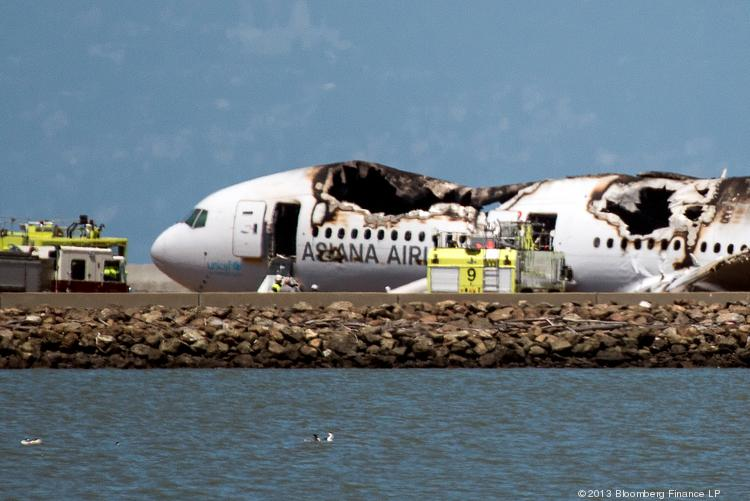 Asiana Flight 214, July 6, 2013: A pilot making his first Boeing 777 landing at San Francisco International hits a seawall in front of a runway. The aircraft, arriving from Seoul, loses its tail and both engines, nearly turns over and comes to rest just off the runway. All but two of the 307 passengers and crew survived the crash and the subsequent fire, though there were a number of serious injuries.