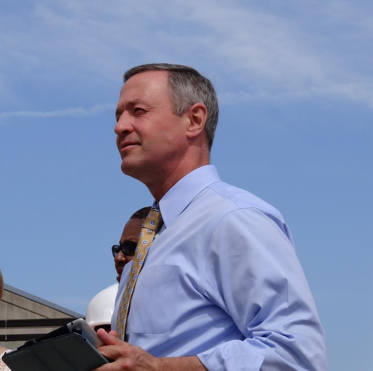 Gov. Martin O'Malley prepares to announce $650 million in transportation improvements for Prince George's County on July 9 at the Branch Avenue Metro Station.