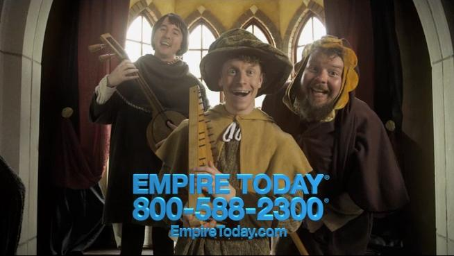 Empire Today updates ads with minstrels and moon walks - Chicago ...