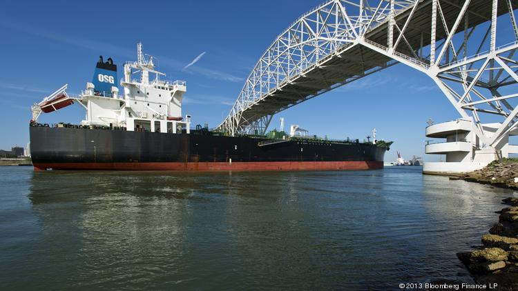 File photo of the Port of Corpus Christi. NuStar Energy L.P. has opened a private marine loading dock at Corpus Christi's North Beach Terminal. Through this new dock, oil producers can ship crude oil from the Eagle Ford Shale. Photographer: Eddie Seal/Bloomberg