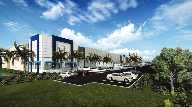 Rendering of the new Titusville Logistics Center now being developed near Port Canaveral.