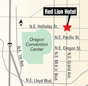 The 173-room hotel is located at 1021 N.E. Grand Ave. in Portland.