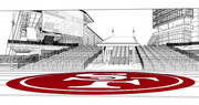 A sketch of the location where 49ers fans can now place commemorative bricks.