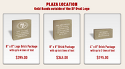 Commemorative bricks now for sale at Levi's Stadium, to be located in a plaza area.