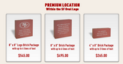 Commemorative bricks now for sale at Levi's Stadium, to be placed in a 49ers logo at the venue.