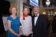From left, 2013 AOBA President Caroline Kruger of Boston Properties, Peggy Jeffers of AOBA and Rich Greninger of Carr Properties.