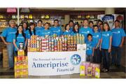 Ameriprise Financial recently held a canned food drive to help fight domestic hunger. More than 600 pounds of food was donated to the Hawaii Foodbank from Ameriprise clients. Participating Ameriprise Financial advisors and team members from left: Arnold Tanaka, Aftin Ikeda, Kimberly Lau, Megan Jen, Matthew Takamatsu, Ellen Park, Kevin Isoda, Sheila Pang, Gaylien Larita, Joanne Watanabe, Daniel Robertson, Gail Hamada, Sasha Costa Brum and son Kazu, Jesse Wilson, Valerie Hashimoto, Shirley Ikehara, Jin Chu.