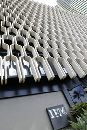 Architect Vladimir Ossipoff designed the IBM Building in Honolulu with concrete forms that act as sun shades.