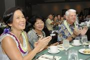 From left, HMSA Senior Vice President Elisa Yadao, Shera Hiam and Robert Hiam, former president and CEO for HMSA, attend the health insurer's Kaimana Awards and scholarship program recognizing excellence in student athletics, academics, sportsmanship and community service. The June event helped HMSA award more than $95,000 to Hawaii high schools and outstanding student athletes.