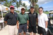 The West Oahu Economic Development Association recently held its 12th annual golf tournament fundraiser at Kapolei Golf Course. From left: Darian Chun, Ralph Kanoho, George Leong, Quentin Machida.