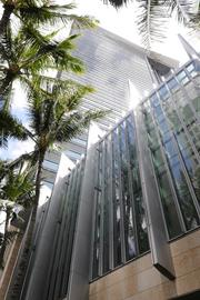 The 429-foot-high First Hawaiian Center in Downtown Honolulu is Hawaii's tallest building and the corporate headquarters of First Hawaiian Bank.