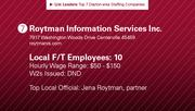 Roytman Information Services Inc. is the No. 7 staffing company.