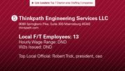 Thinkpath Engineering Services LLC is the No. 5 staffing company.