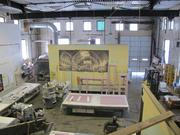 A view from the mezzanine overlooking the area that will house the company's brewing kettles.