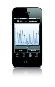 The PressureGuardian displays a graph showing how much pressure a patient's foot is putting on a brace.