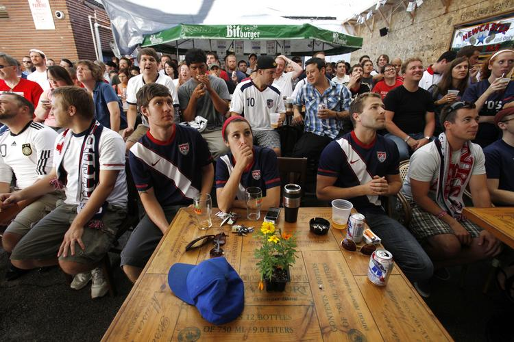 Soccer fans packed Nomad World Pub during the World Cup tournament in 2010.