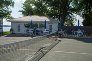 The upgraded tennis pavilion.