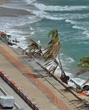 A1A along Fort Lauderdale beach collapsed from Hurricane Sandy.