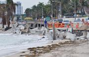 A1A along Fort Lauderdale beach collapsed when Hurricane Sandy passed by last year.