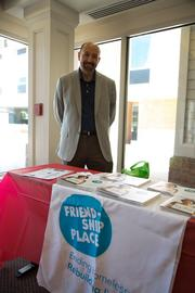 Jean Michel Giraud of Friendship Place shared information about the nonprofit with Case Design guests.