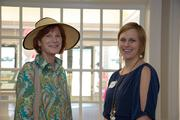 Kay Weston, left, with Case Design's Lisa Magee.