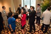 Networking at Tuesday's event.