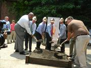 Officials held a ceremonial groundbreaking ceremony on the Angel's Envy's distillery project on Main Street in Louisville a year ago.