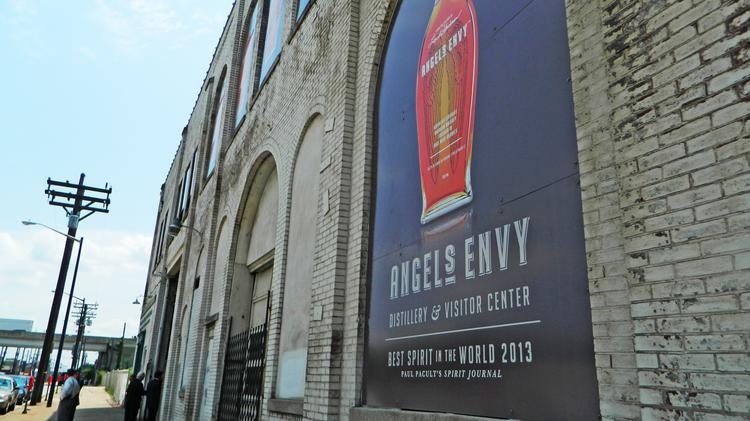 Angel's Envy signs have been up for months, but no construction has taken place at the Vermont American building in downtown Louisville.