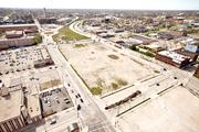 A large, barren block west of the Milwaukee River is the site of the proposed event.