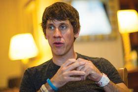 Dennis Crowley, co-founder and chief executive officer at Foursquare Labs Inc., speaks during an interview at the South By Southwest Conference in Austin, Texas, on March 9, 2013.
