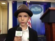 Nicolas Come reports from the White House at a summit for healthy eating. He interviewed other kids, and while he didn't get to meet first lady Michelle Obama as expected, he did get to meet her husband.