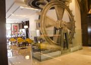 A floor to ceiling spinning gear in the lobby wasn't part of the renovation but gets a mention, but is a focal point for visitors.