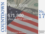 #17. Peter Stott - President, Columbia Investments   Total contributions: $71,800 Republican Party contributions: 100% Democratic Party contributions: 0%