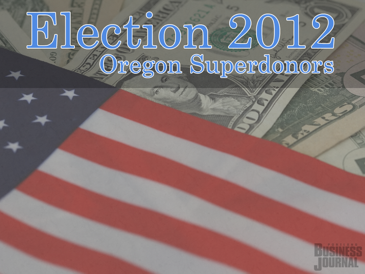 Click through the gallery to see Oregon's top 25 individual political contributors in the 2012 election.