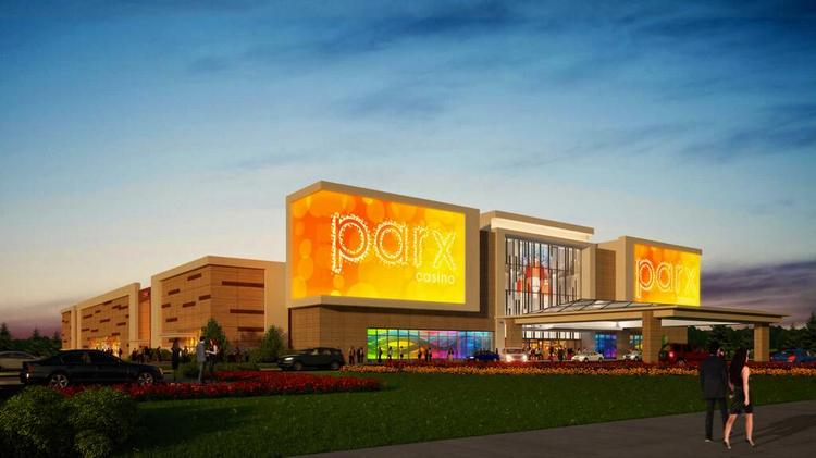 One of two renderings offered by Greenwood Racing and Raynham Park owner George Carney of a proposed slot-parlor casino. Greenwood and Raynham are among three developers who have filed plans in time.