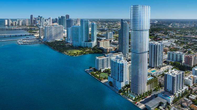 Elysee Residences would rise 57 stories along Biscayne Bay.