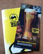 A full pull out panel inside the Buffalo Wild Wings menu will let guests know about the new beer.