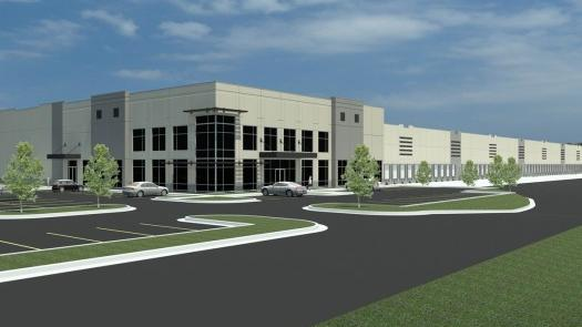 EBay will bring 300 jobs to a 630,000-square-foot facility that Industrial Developments International began building last year without a tenant.