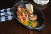 """The new lunch menu at Cask & Larder features """"approachable"""" dishes like peel-n-eat shrimp."""