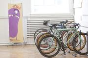 A small fleet of bicycles is available to ChoreMonster employees to run errands or otherwise get around town.