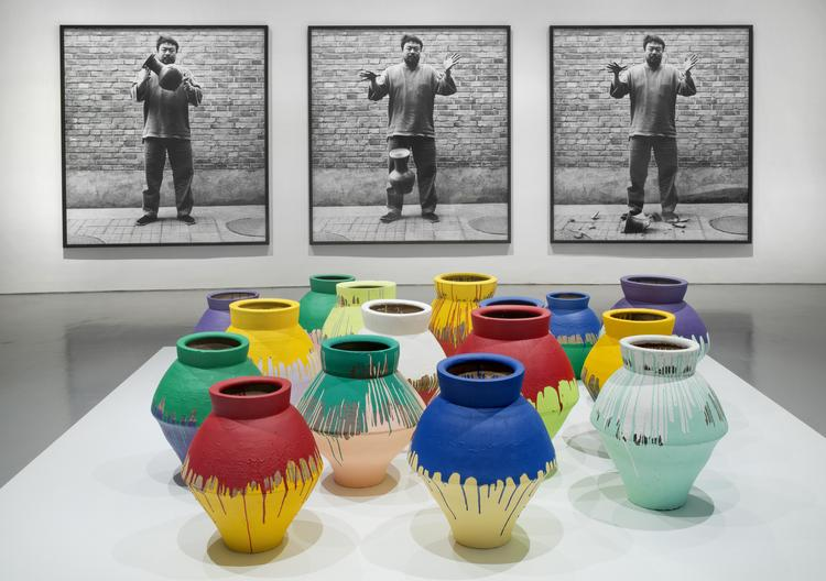 "An installation view of ""Ai Weiwei: According to What?"" on display at the Hirshhorn Museum in D.C."