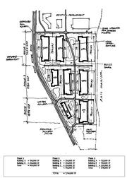 A sketch plan of Hyde's $145 million redevelopment plan for the BAE site in Fridley