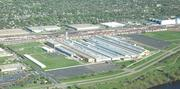 An aerial photograph of the state's largest industrial building, which Hyde Development purchased Wednesday.