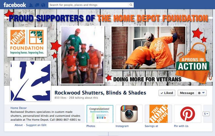 Rockwood Shutters, Blinds & Shades's Facebook page. The company is the only Houston company remaining in our national social media contest, Social Madness. Click here to vote.