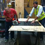 Behind the scenes with 2 businesses as they build their 2015 PDX Adult Soapbox Derby cars (Photos)