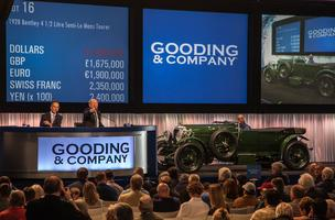 The top-selling car of Gooding & Company's Amelia Island Auction, this 1928 Bentley 4 1/2 Litre Semi-Le Mans Tourer sold for $2.75 million.