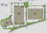 A master plan showing the three buildings slated for development.